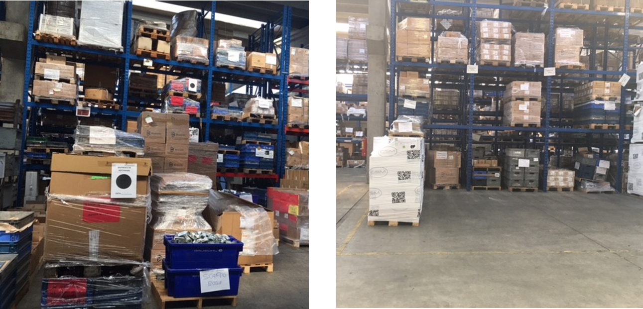 Warehouse before and after 5s